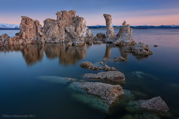 Mono Lake's South Tufa at dawn.