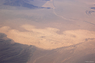 An aerial view of the Kelso Dunes.